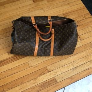 PRELOVED LOUIS VUITTON LARGE DUFFLE WITH STRAP
